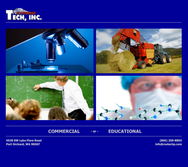 Northwest Tech's Flash-based website