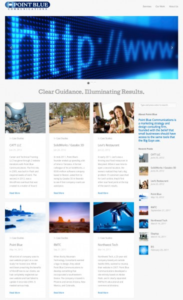 Point Blue's new WordPress site.